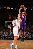 New York Knicks v Los Angeles Lakers, New York, NY, Feb 10: Kobe Bryant, Landry Fields Photographic Print by Nathaniel S. Butler