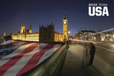 London 2012 Olympics - Team USA - Flag Posters