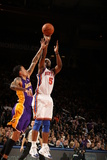 New York Knicks v Los Angeles Lakers, New York, NY, Feb 10: Bill Walker, Matt Barnes Photographic Print