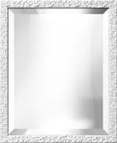 White Lacquer Bevel Mirror Decorative Mirror