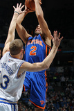 New York Knicks v Minneapolis Timberwolves, Minneapolis, MN, Feb 11: Landry Fields, Luke Ridnour Photographic Print by David Sherman