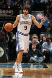 New York Knicks v Minneapolis Timberwolves, Minneapolis, MN, Feb 11: Ricky Rubio Photographic Print by David Sherman