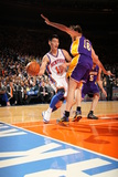 New York Knicks v Los Angeles Lakers, New York, NY, Feb 10: Jeremy Lin, Pau Gasol Photographic Print