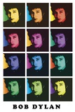 Bob Dylan Color Poster