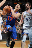 New York Knicks v Minneapolis Timberwolves, Minneapolis, MN, Feb 11: Jeremy Lin, Kevin Love Photographic Print by David Sherman