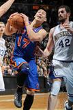 New York Knicks v Minneapolis Timberwolves, Minneapolis, MN, Feb 11: Jeremy Lin, Kevin Love Photographic Print by David Sherman