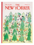 The New Yorker Cover - December 18, 1989 Regular Giclee Print by Susan Davis