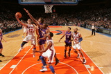 New York Knicks v Los Angeles Lakers, New York, NY, Feb 10: Jeremy Lin, Pau Gasol, Andrew Bynum Photographic Print
