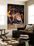 New York Knicks v Los Angeles Lakers, New York, NY, Feb 10: Jeremy Lin, Andrew Bynum Wall Mural by Nathaniel S. Butler