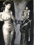 Verve - Femme et peintre I Collectable Print by Pablo Picasso