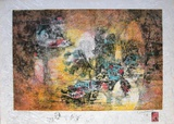 Papier De Riz - Paysage Marin Collectable Print by Lebadang 