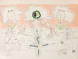 L'Âge Du Verseau : La Femme Fleur Samlartryck av Jean Cocteau