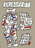 Festival D'Automne Collectable Print by Jean Dubuffet
