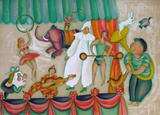 Au Cirque - Pierrot Collectable Print by Fran&#231;oise Deberdt