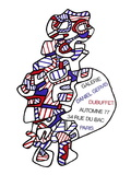Expo Galerie Daniel Gervis Collectable Print by Jean Dubuffet