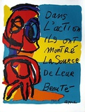 Dans L'Action... Collectable Print by Karel Appel