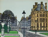 Paris, Coin Des Tuileries Collectable Print by Denis-paul Noyer