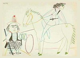 Com&#233;die Humaine : 30.1.54. II Collectable Print by Pablo Picasso