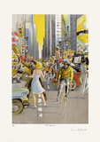 New York 7Th Avenue Collectable Print by Daniel Authouart