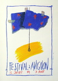 Festival D'Avignon 1989 Collectable Print by Jean-Paul Chambas