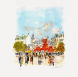 Paris, Le MouIIn Rouge Iv Collectable Print by Urbain Huchet