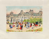 Paris, Le Louvre Collectable Print by Urbain Huchet