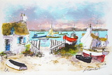 Bretagne Maisons De P&#234;cheurs Collectable Print by Urbain Huchet