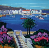 Mykonos : un jardin Collectable Print by Jean Claude Quilici