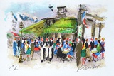 Paris, Les Deux Magots Collectable Print by Urbain Huchet