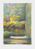 Giverny, une barque sur l'eau Limited Edition by Rolf Rafflewski