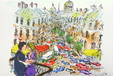 Paris, Les Boulevards Collectable Print by Urbain Huchet