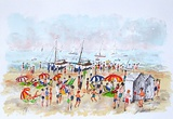 Les Joies De La Plage Collectable Print by Urbain Huchet