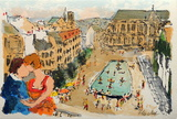 Paris, La Fontaine Stravinsky Collectable Print by Urbain Huchet