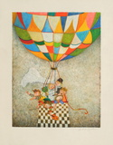 Les mariés à la Montgolfière Collectable Print by Graciela Rodo Boulanger