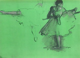 Danseuse À La Barre Collectable Print by Edgar Degas