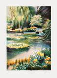 Giverny, les nymphéas sur la rivière II Limited Edition by Rolf Rafflewski