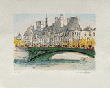 Paris, L'Hôtel De Ville Collectable Print by Urbain Huchet