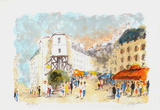 Paris, Montmartre La Rue Lepic Limited Edition by Urbain Huchet