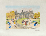 Paris, Le Jardin Du Luxembourg Collectable Print by Urbain Huchet