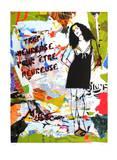 Trop Heureuse Pour Être Peureuse Collectable Print by  Miss.Tic