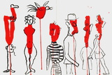 Dlm156 - Personnages Collectable Print by Alexander Calder