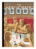 Oscar-Night Party - The New Yorker Cover, February 27, 2012 Regular Giclee Print by Bruce McCall