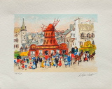 Paris, Le MouIIn Rouge III Collectable Print by Urbain Huchet