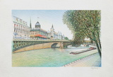 Paris, la Seine et la Conciergerie Collectable Print by Rolf Rafflewski