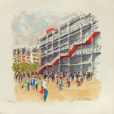 Paris, Le Centre Pompidou Collectable Print by Urbain Huchet
