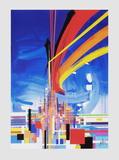 Architecture Serigraph by Raymond Moretti