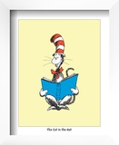 The Cat in the Hat (on yellow) Poster by Theodor (Dr. Seuss) Geisel