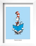 The Cat in the Hat (on blue) Posters by Theodor (Dr. Seuss) Geisel