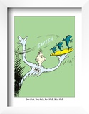 One Fish, Two Fish, Red Fish, Blue Fish (on green) Prints by Theodor (Dr. Seuss) Geisel
