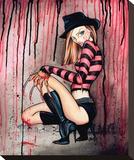 Freddie Stretched Canvas Print by Alayna Magnan